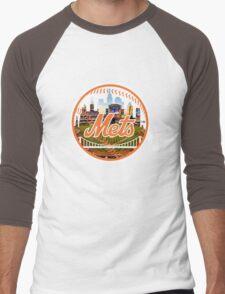 New York Mets Stadium Logo Men's Baseball ¾ T-Shirt