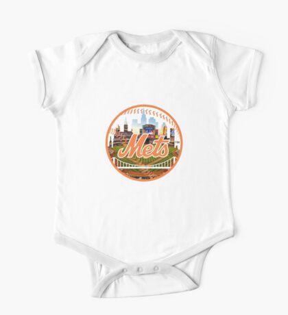 New York Mets Stadium Logo One Piece - Short Sleeve