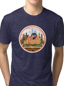 New York Mets Stadium Logo Tri-blend T-Shirt