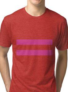 Broken Pixel - Determined Frisk Tri-blend T-Shirt