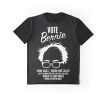 Vote Bernie Hair Shirt with Speaking Points Graphic T-Shirt