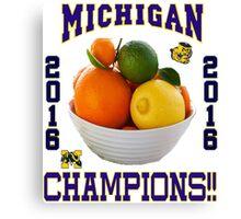 Michigan! Bowl CHAMPIONS AGAIN!!!! Canvas Print