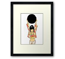 The Black Mirror Framed Print