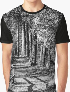 A walk in the woods B&W Graphic T-Shirt
