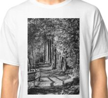 A walk in the woods B&W Classic T-Shirt