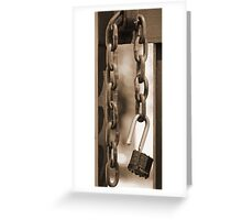 Unlocked Padlock Greeting Card