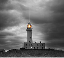 Golden Beam - Flamborough Lighthouse by Karlspics