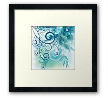 Turquoise Vines Framed Print