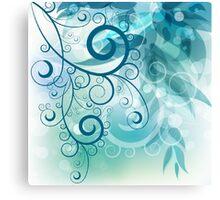 Turquoise Vines Canvas Print