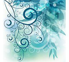 Turquoise Vines Photographic Print