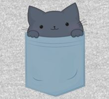 Pocket Cat One Piece - Long Sleeve