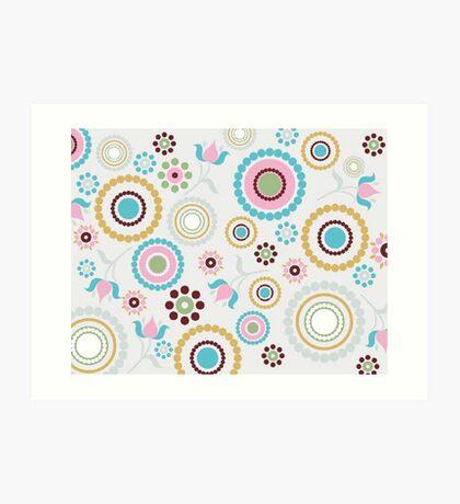Multi colored Circles Art Print