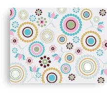 Multi colored Circles Canvas Print