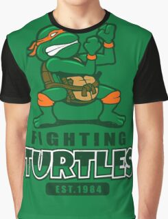 Fighting Turtles - Michelangelo Graphic T-Shirt