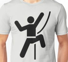 Simple Black and White Rock Climbing Icon Unisex T-Shirt
