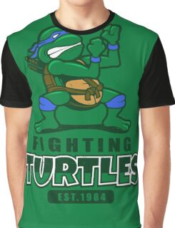Fighting Turtles - Leonardo Graphic T-Shirt
