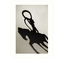 Shadow of a Cowgirl Art Print