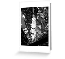 Vintage Black and White Photograph of Saturn V Greeting Card