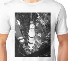 Vintage Black and White Photograph of Saturn V Unisex T-Shirt