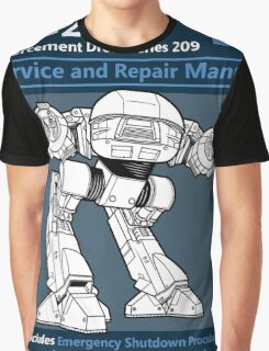 ED-209 Service and Repair Manual Graphic T-Shirt