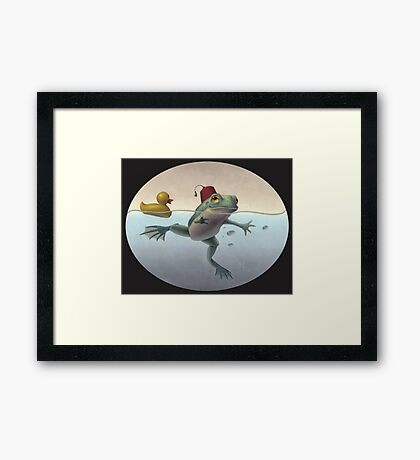 Frog and Duck Framed Print