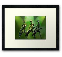 Rock n Roll Dem Bones Framed Print