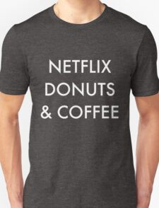 Netflix Donuts & Coffee in white T-Shirt