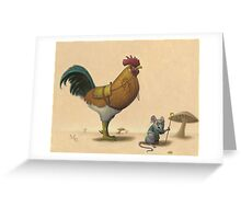 Rooster and Seeker Greeting Card