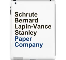 Schrute Bernard Lapin-Vance Stanley iPad Case/Skin