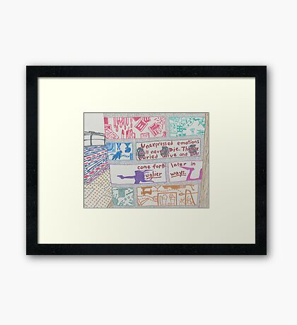 unexpressed emotions Framed Print