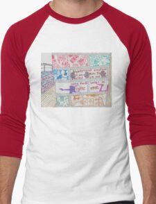 unexpressed emotions Men's Baseball ¾ T-Shirt