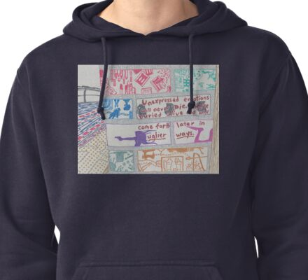 unexpressed emotions Pullover Hoodie