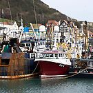 New Years Day in Harbour. by John (Mike)  Dobson