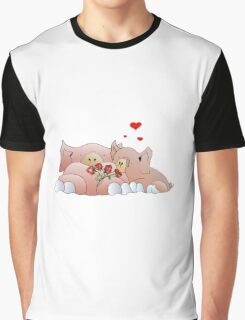 pigs in love Graphic T-Shirt