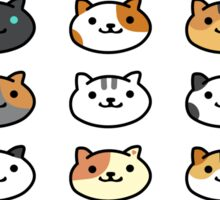 Neko Atsume All Ordinary Cats Stickers Sticker