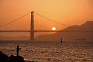 Golden Gate Golden Sunset by Jo Nijenhuis