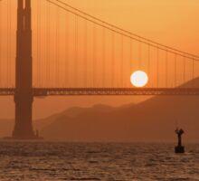 Golden Gate Golden Sunset Sticker