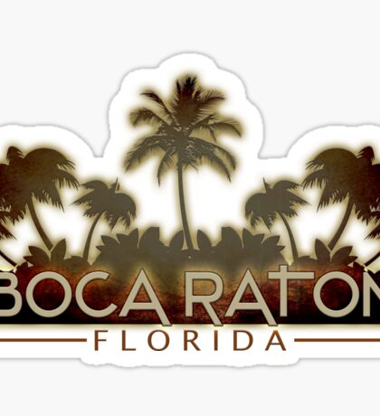 Boca Raton Florida palm tree design Sticker