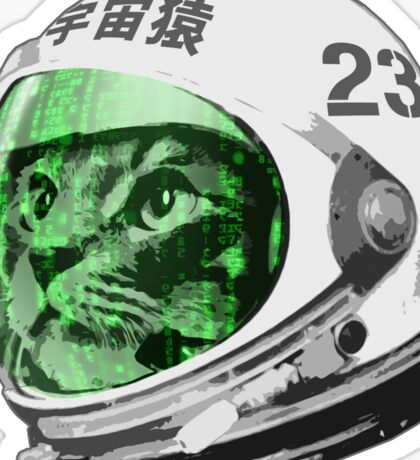 Astronaut Space Cat (green screen version) Sticker