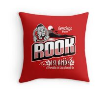 Greetings from Rook Islands Throw Pillow