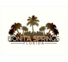 Bonita Springs Florida palm tree design Art Print