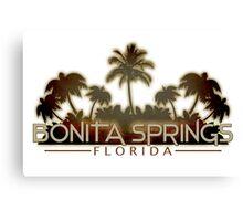 Bonita Springs Florida palm tree design Canvas Print