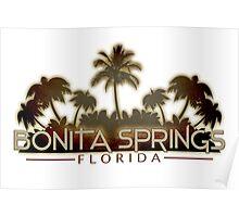 Bonita Springs Florida palm tree design Poster