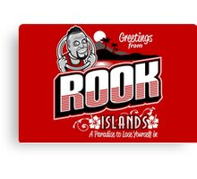Greetings from Rook Islands Canvas Print