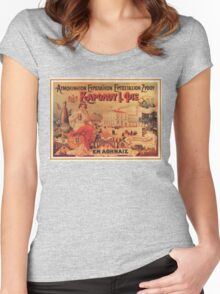 Vintage poster - Beer Women's Fitted Scoop T-Shirt