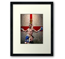 Carl Frampton Boxing World Champion Northen Ireland Flag Framed Print
