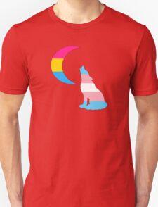 Trans Pansexual Wolf & Moon Unisex T-Shirt
