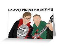 Heavy Metal Football Greeting Card