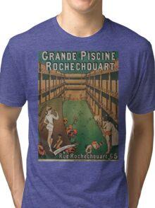 Vintage poster - Grande Piscine Rochechouart Tri-blend T-Shirt