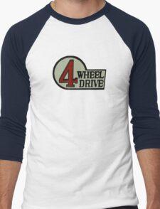 Toyota FJ40 Land Cruiser Four Wheel Drive Emblem Men's Baseball ¾ T-Shirt